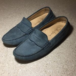 COLE HAAN SIZE 5 BLUE SUEDE LOAFERS DRIVING SHOES